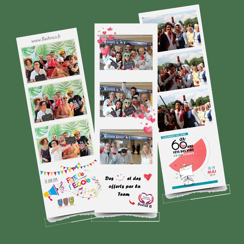 Trois photos bandelettes - événements professionnels - Pays de la Loire